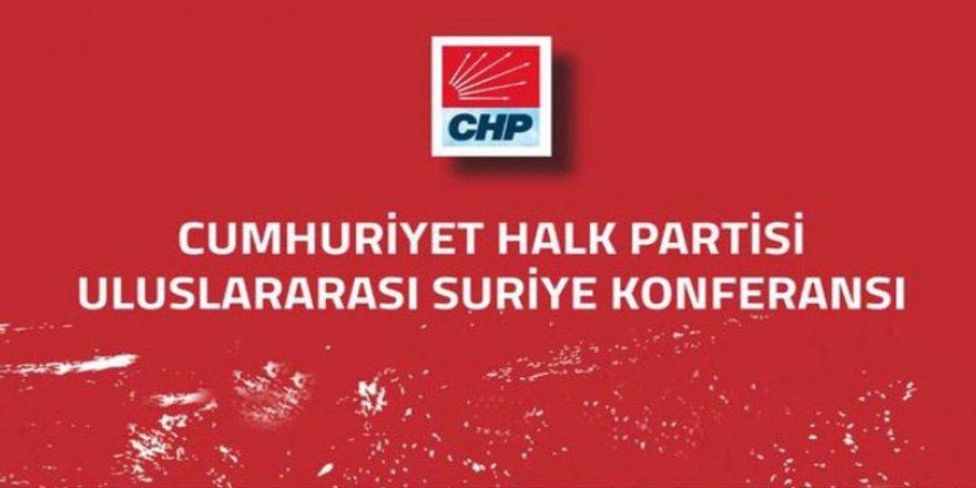 CHP'nin Suriye Konferansı 28 Eylül'de