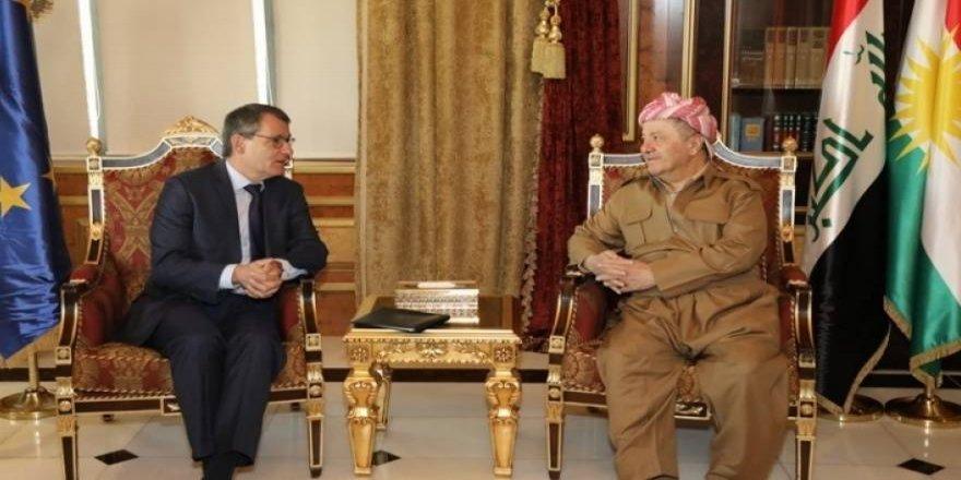 Başkan Barzani, AB Büyükelçisi ile Rojava'yı görüştü