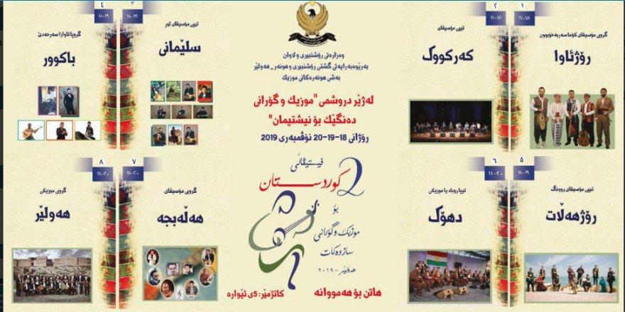 Erbil'de Kürdistan Müzik ve Şarkı Festivali başlıyor