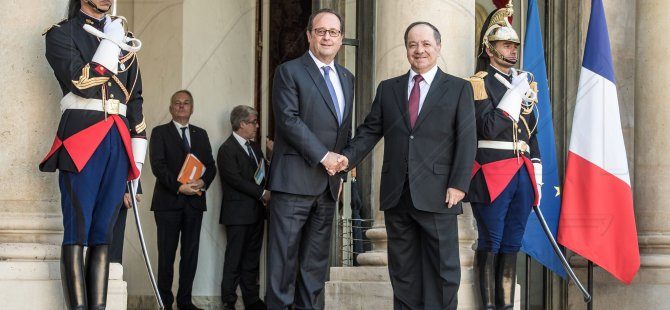 Fransa: Hollande Barzaniyi kapıda karşıladı ve uğurladı