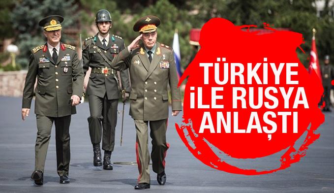Türk ve Rus Genelkurmay Başkanları anlaştı