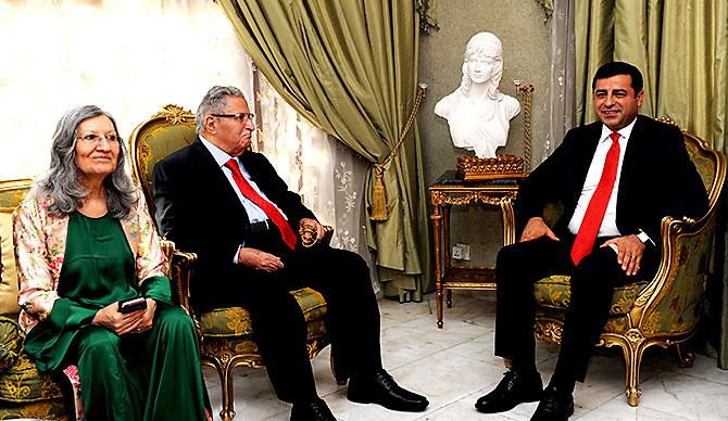 Demirtaş, Talabani'yi Ziyaret Etti