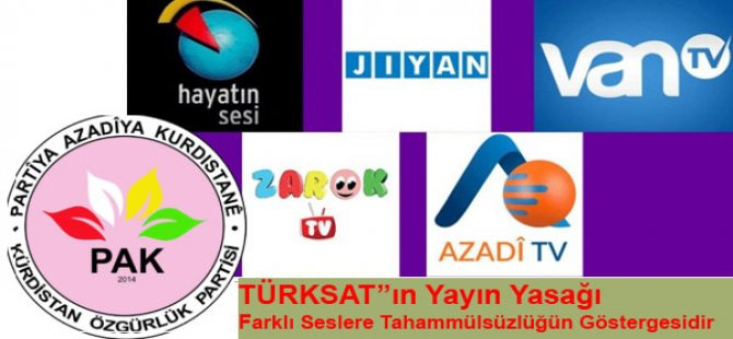 """""""TÜRKSAT''ın yayın yasağı, farklı seslere tahammülsüzlüğün göstergesidir"""""""