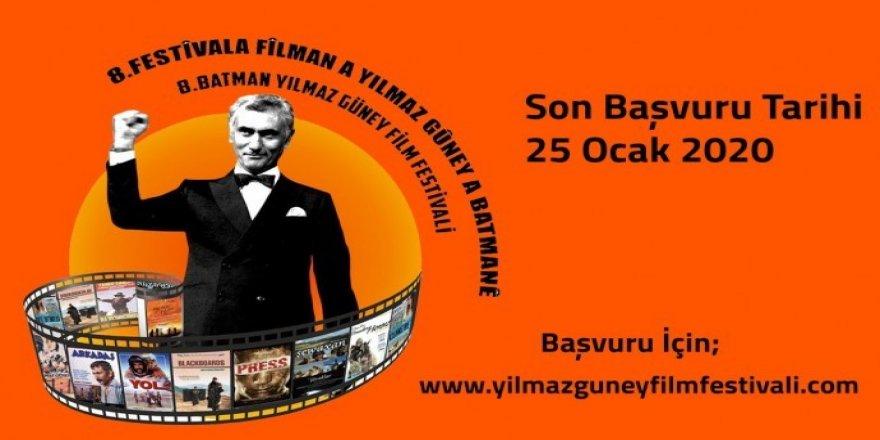 Yılmaz Güney Film Festivali'ne son başvurular 25 Ocak'ta