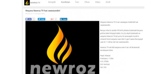 Newroz TV: Türkiye baskı yaptı, sinyalimiz kesildi